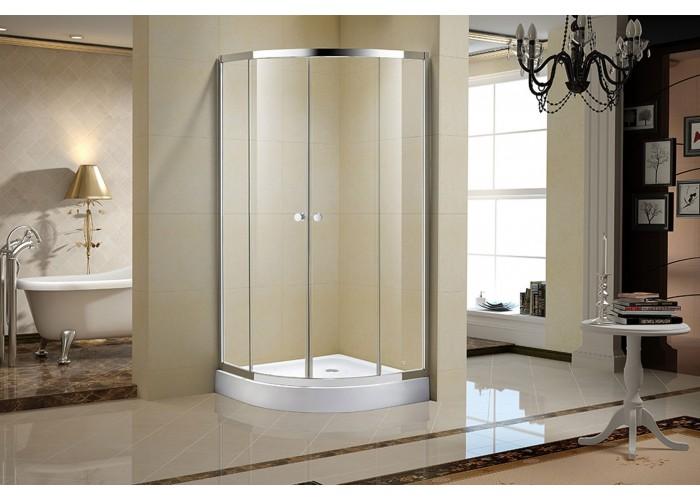 Porte de douche en verre clair 36 po