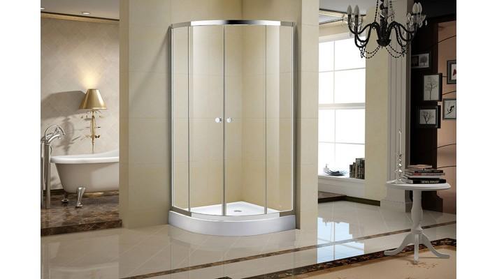 "Clear shower door glass 36"" - Séréna C"