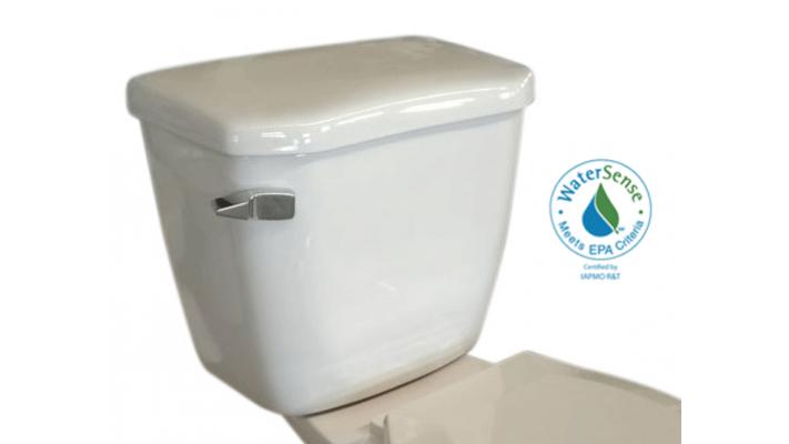 Round toilet tank single flush - Fuego