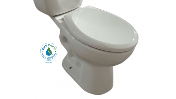 Elongated comfort height toilet bowl 17 3/8""